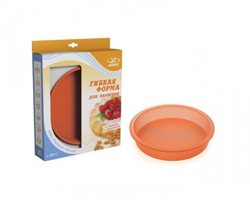 Круглая силиконовая форма для выпечки 21 см (кор.)